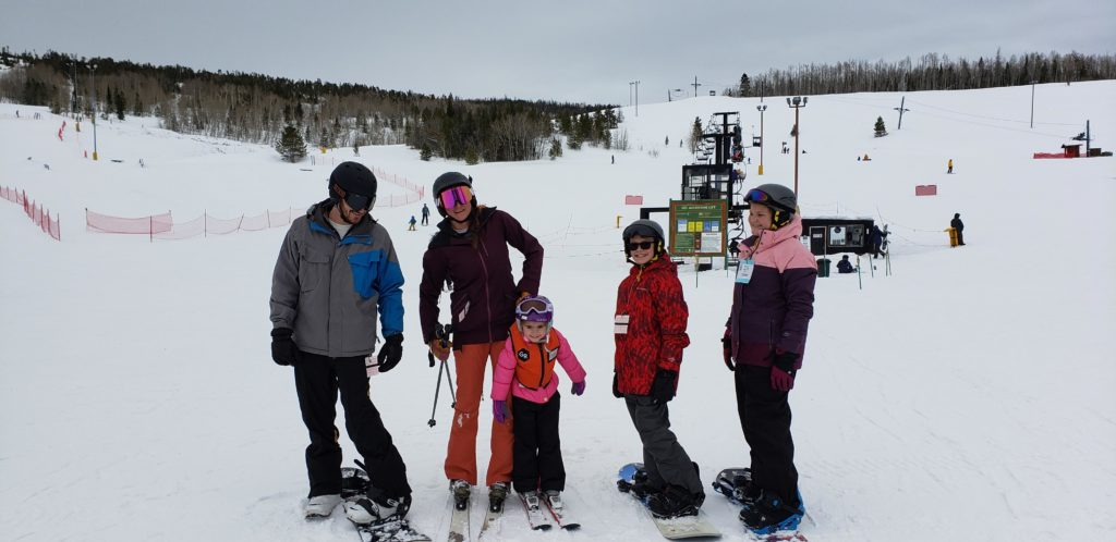 Freestyle multigenerational family travel planning includes encouraging the family to experience adventures on their own, including skiing or snowboarding at Granby Ranch in Grand Lake, Colorado.
