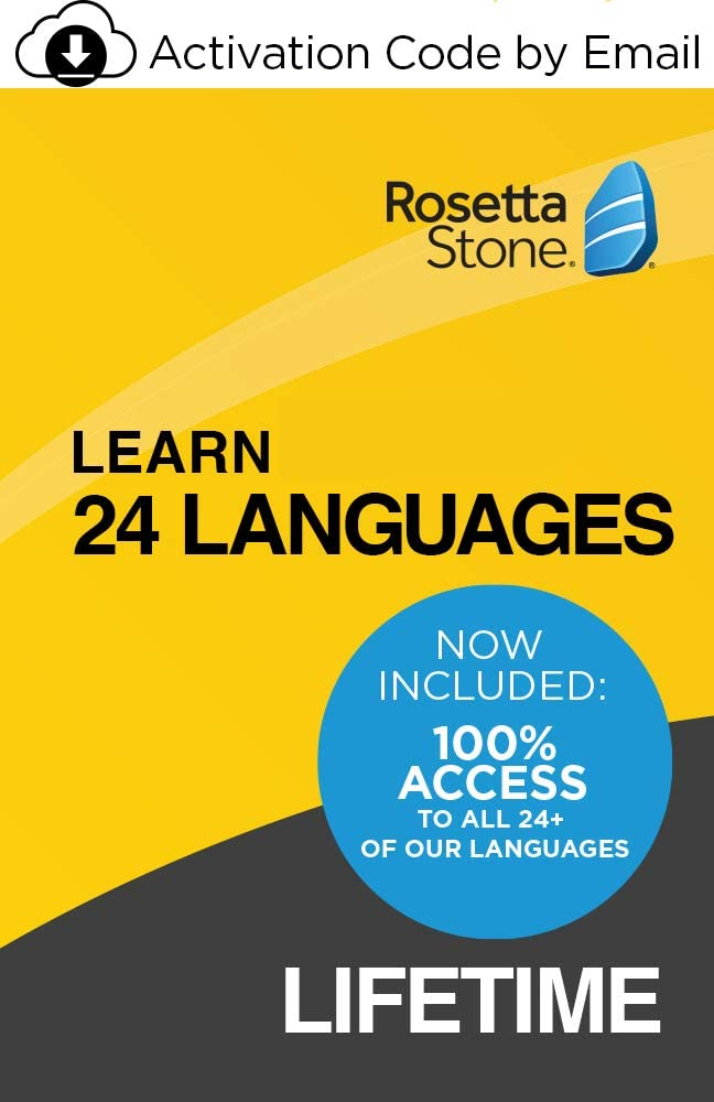 Want to save money and learn 24 languages? Choose a lifetime subscription to Rosetta Stone.