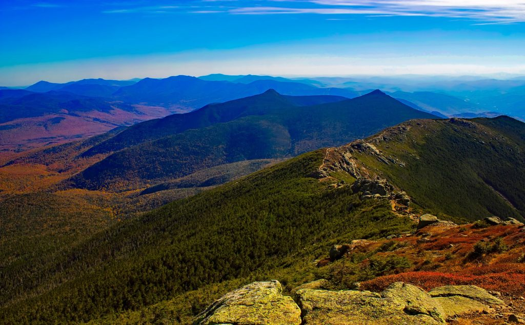Part of the northern Appalachian Mountains, the White Mountains are a mountain range covering about a quarter of the state of New Hampshire and a small portion of western Maine in the United States.
