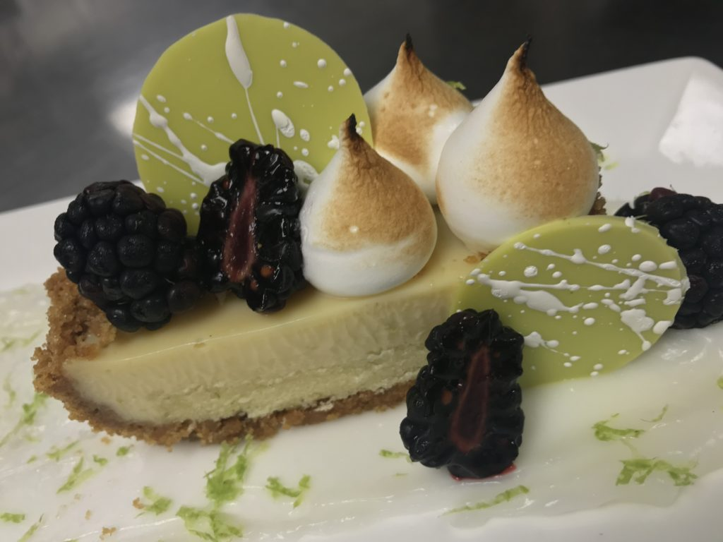 The perfect ending to a date night at home dinner idea is Key Lime Tart dessert.