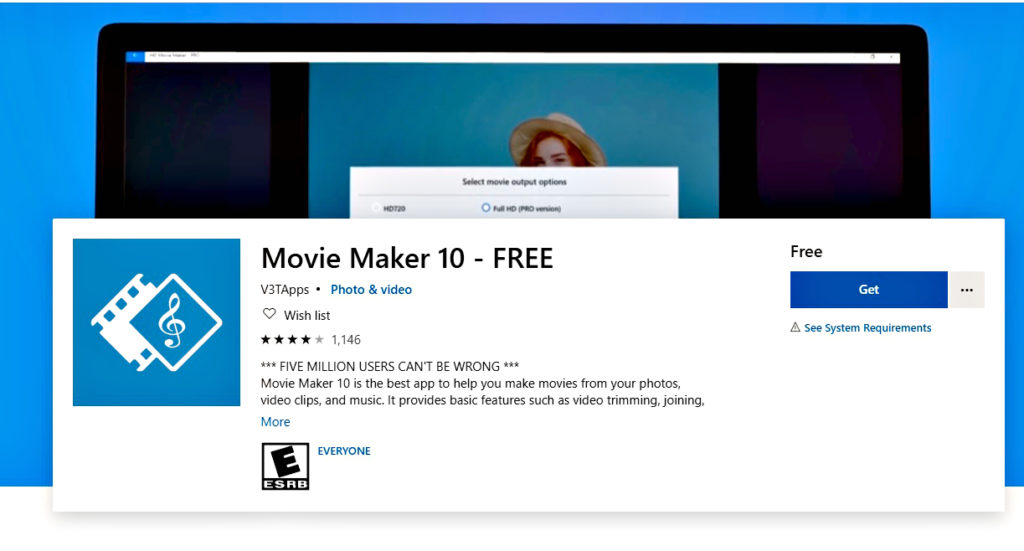 For PC users, use Movie Maker as your video montage app and it is free to download. Photo: Movie Maker