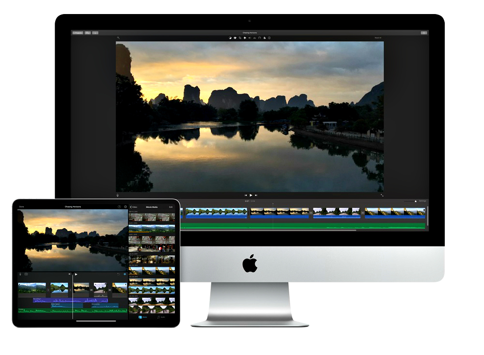 With iMovie,  iMovie for iOS and macOS, create your video montage and you can even start editing on iPhone or iPad, then finish on your Mac. Photo: iMovie