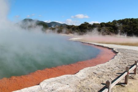New Zealand's volcano's and geothermal waters are one of the many things to do in Rotorua.