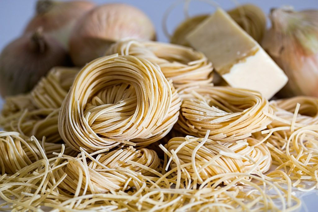 Add pasta to your pantry items list.