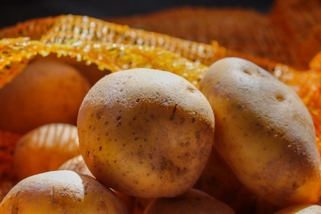 An essential pantry item, store potatoes in cool, dark place.