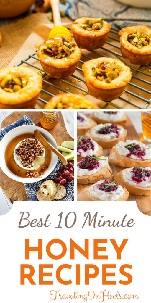 How sweet it is! Got 10 minutes? From baklava to brie, impress your guest with these easy-to-make 10 minute honey recipes! #honeyrecipes #recipeswithoney #entertainingrecipes #honeyappetizerrecipes #honeyrecipesbaking #honeycocktailrecipes #homemadebaking