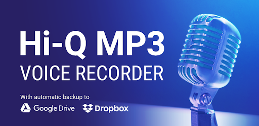 With the Hi-Q MP3 Voice Recorder app, set your recordings to automatically backup to GoogleDrive or DropBox