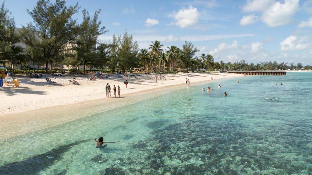 Nassau's Junkanoo Beach is popular as its close to the cruise ship docks.