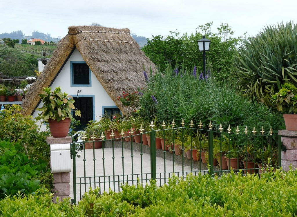 Tips for Traveling to Portugal should include visiting Madeira and its quaint homes with thatched roofs.