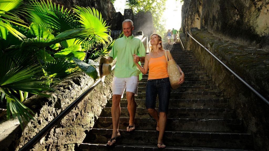 The perfect photo opportunity in Nassau is on the Queen's Staircase