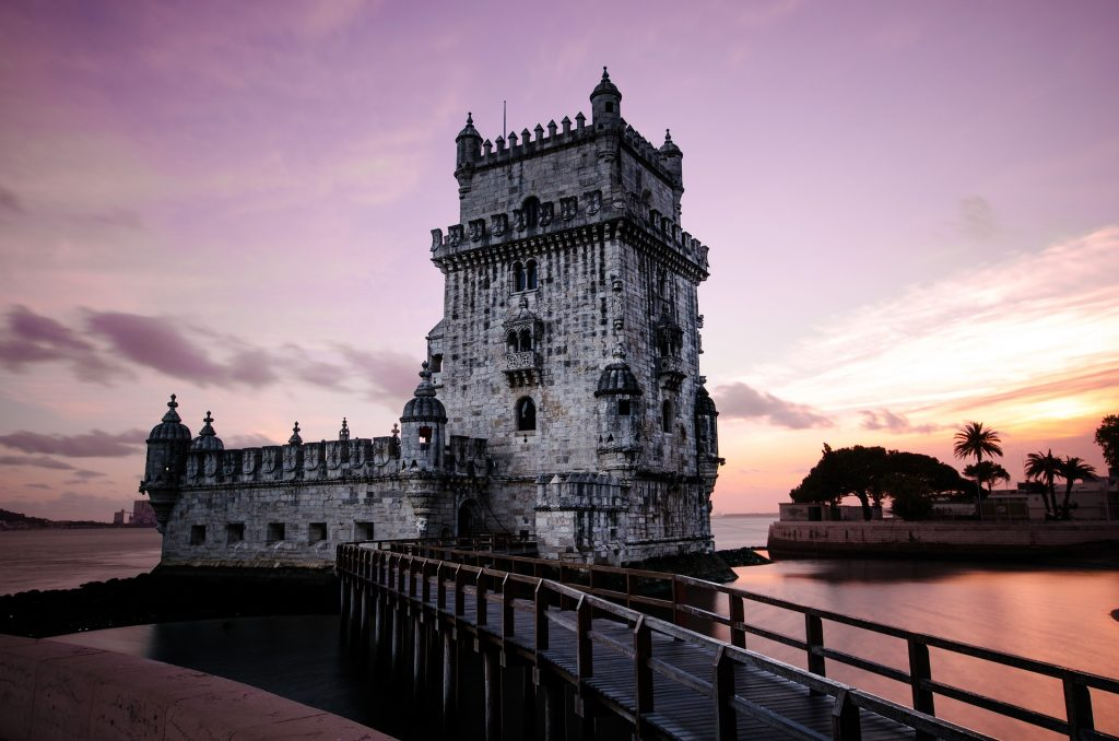 Imagine this view of the Lisbon harbor when visiting Portugal.
