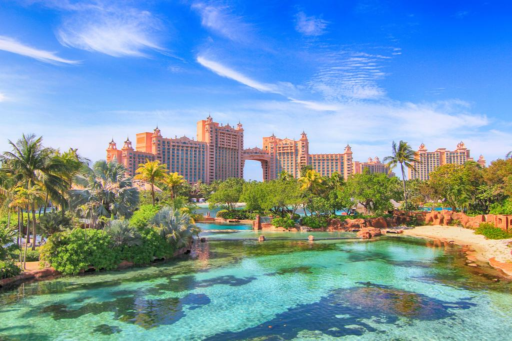 The Royal at the Atlantis' iconic tower's lobby features The Dig and Ruins Lagoon, a large open-air marine habitat. Located in the Atlantis Paradise Resort and Casino, it offers colorful rooms with a flat-screen TV