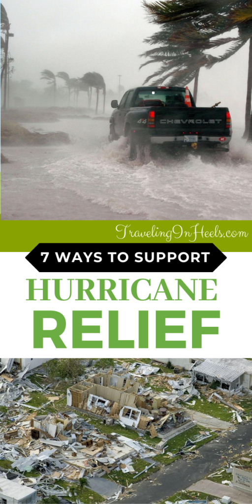 From volunteering to clean up to donating to the Red Cross and giving blood, 7 Top Methods for Supporting Hurricane Relief #hurricanerelief #waystosupporthurricanerelief #supporthurricanerelief