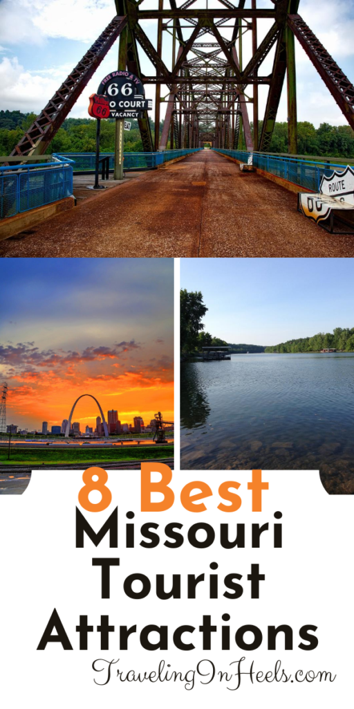 From St. Louis Arch to Route 66, here are the 8 don't-miss breathtaking Missouri tourist Attractions #missouritouristattractions #missouriattractions #familyvacation #missouriroadtrip