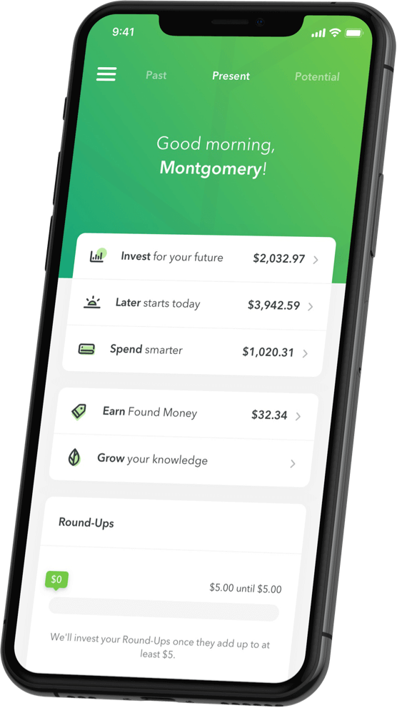 The original round-up app, Acorns helps you save money by rounding up your credit or debit card purchases