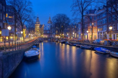 Amsterdam is the Netherlands' capital, known for its elaborate canal system.