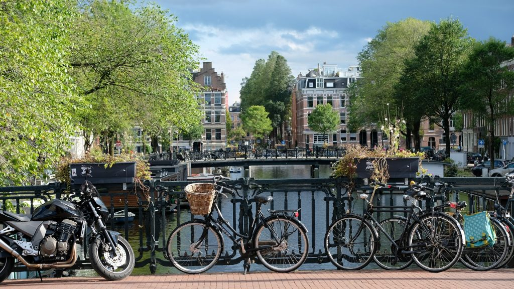 Amsterdam is the perfect city to rent a bicycle as it offers many bike trails and lots of scenery.