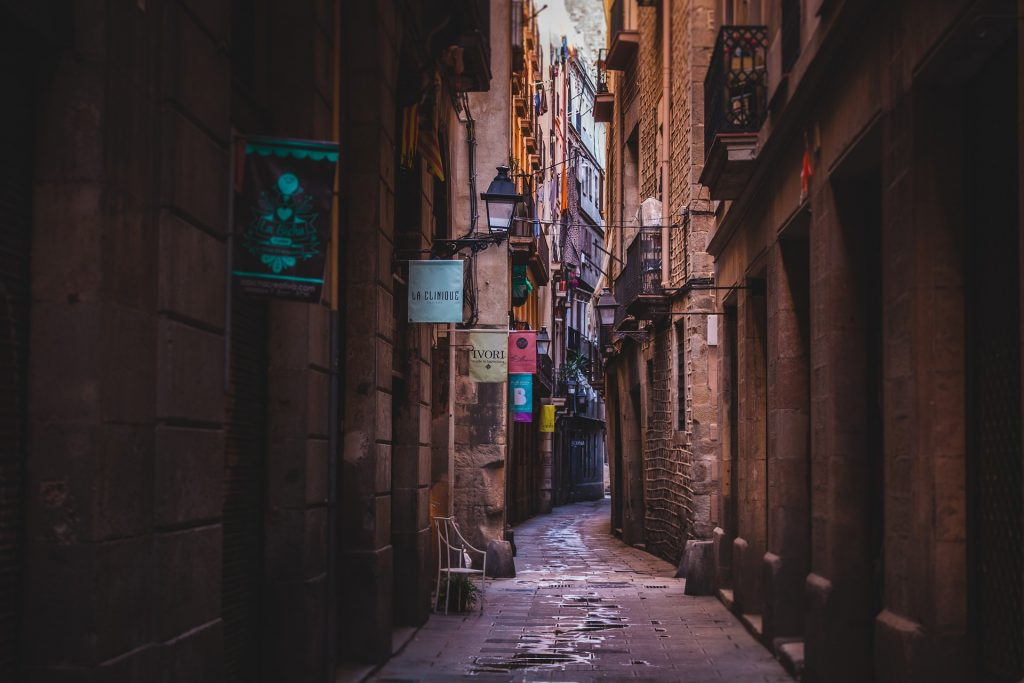 There is beauty in exploring the side streets of Barcelona, Spain.