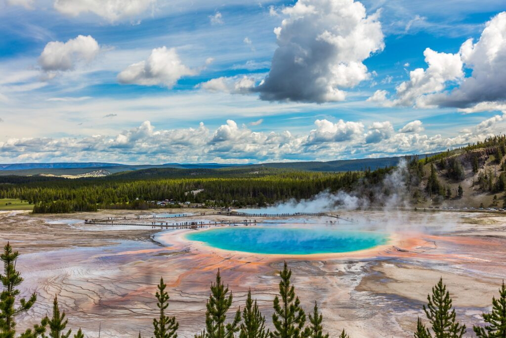 One of the most visited of the 61 national parks in the U.S. is Yellowstone National Park