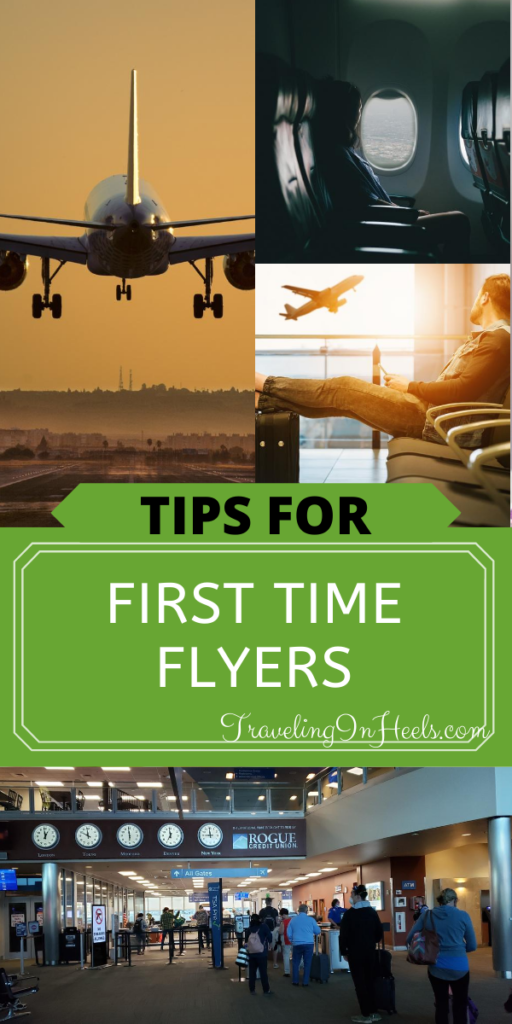From how to navigate the airport to check or carry-on bags, 5 tips for first time flyers #tipsforfirstimeflyers #firsttimeflyers #traveltips #familyvacation