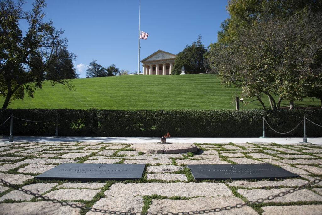 President John Fitzgerald Kennedy Gravesite at Arlington Cemetwry