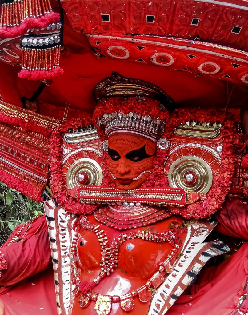 Theyyam Performer in Kerala, India