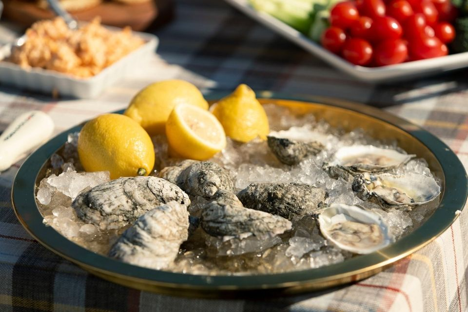 Virginia's southern-style cooking includes oysters!