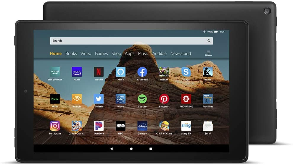 Grandpa (and grandma) will love the larger screen on a Kindle Fire HD 10 Tablet.