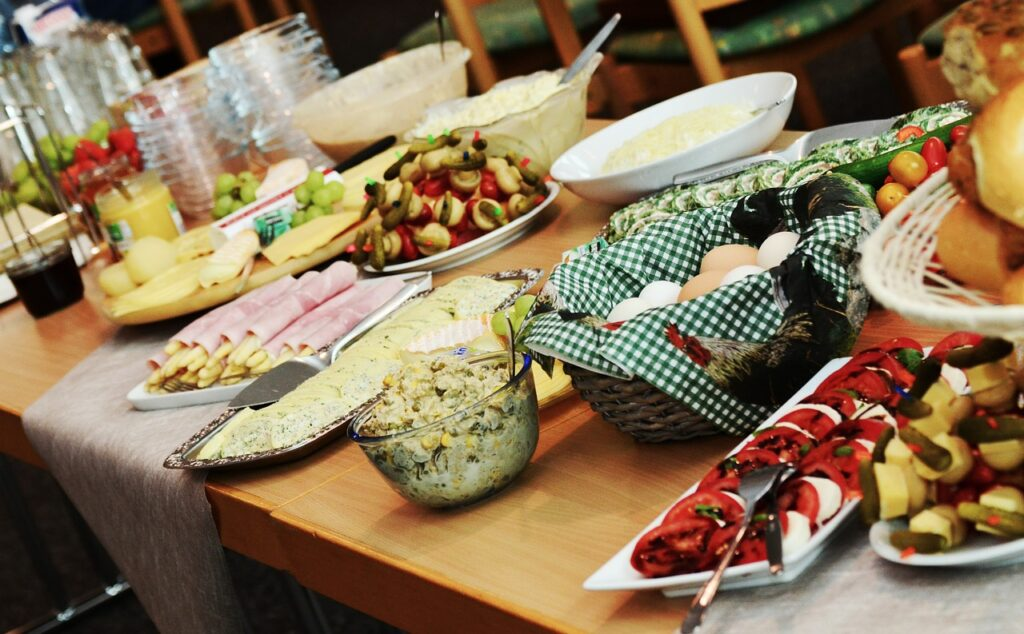Host a holiday buffet, which can also be virtual!