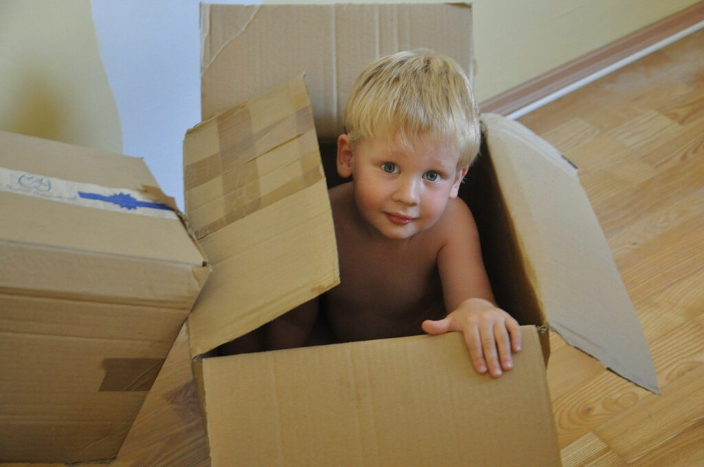 Moving can be fun, right? Assign kids the task of packing for themselves