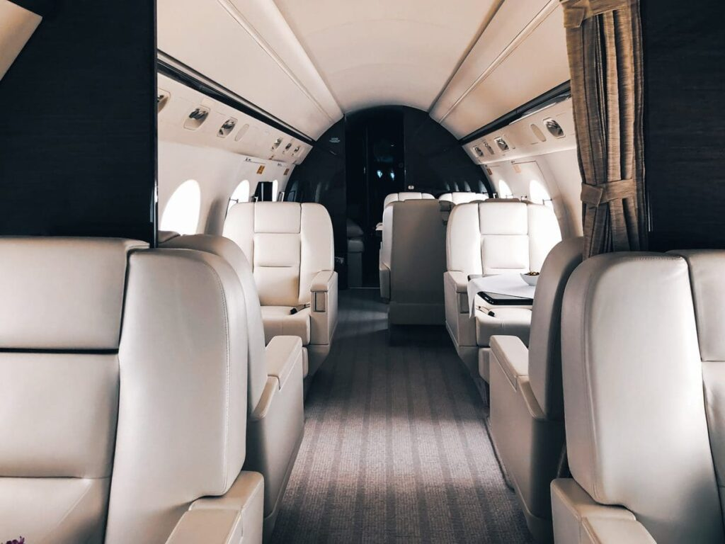 Luxury travel on a budget could include booking a private jet.