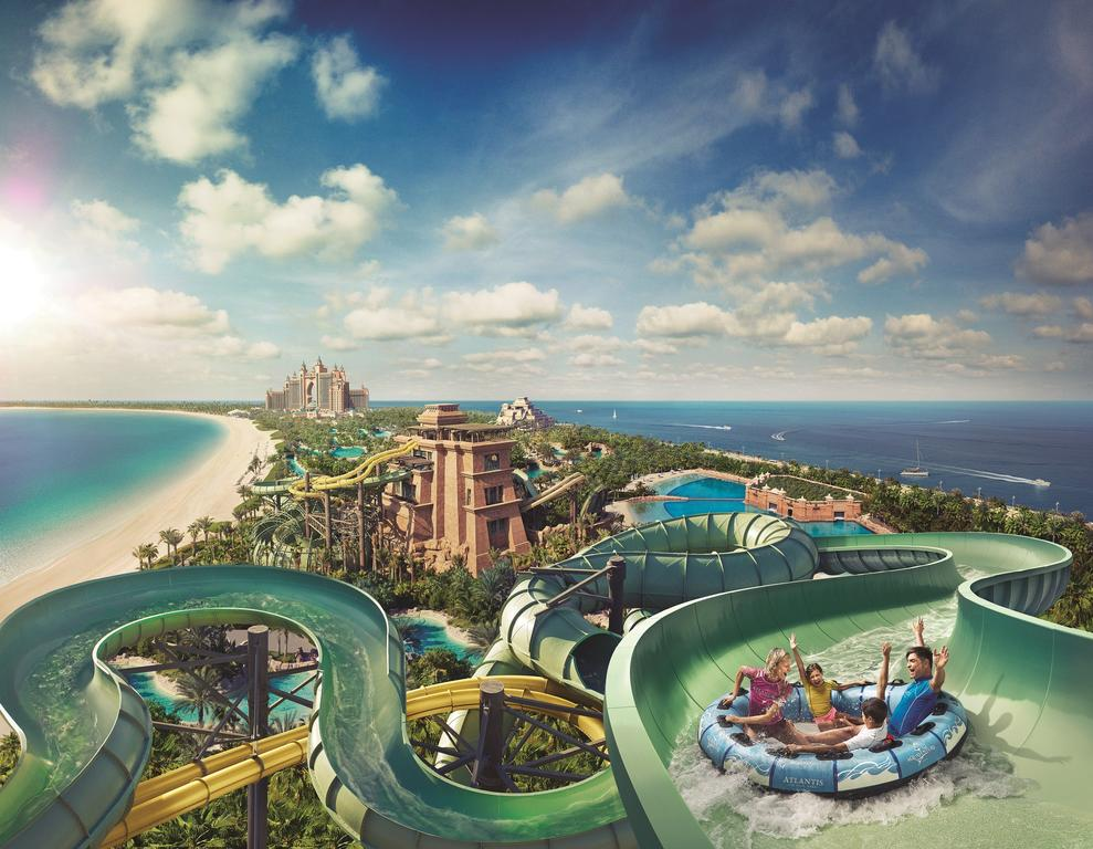 Family friendly attractions in Dubai include the water park at the The Atlantis Palm.