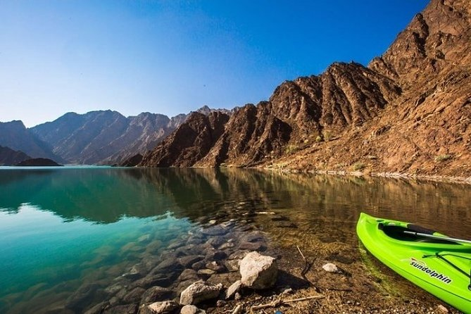 Travel through the scenic rocky landscape and the valleys, known as wadis, of the Al-Hajar Mountains on this full-day guided off-roading sightseeing tour from Dubai.