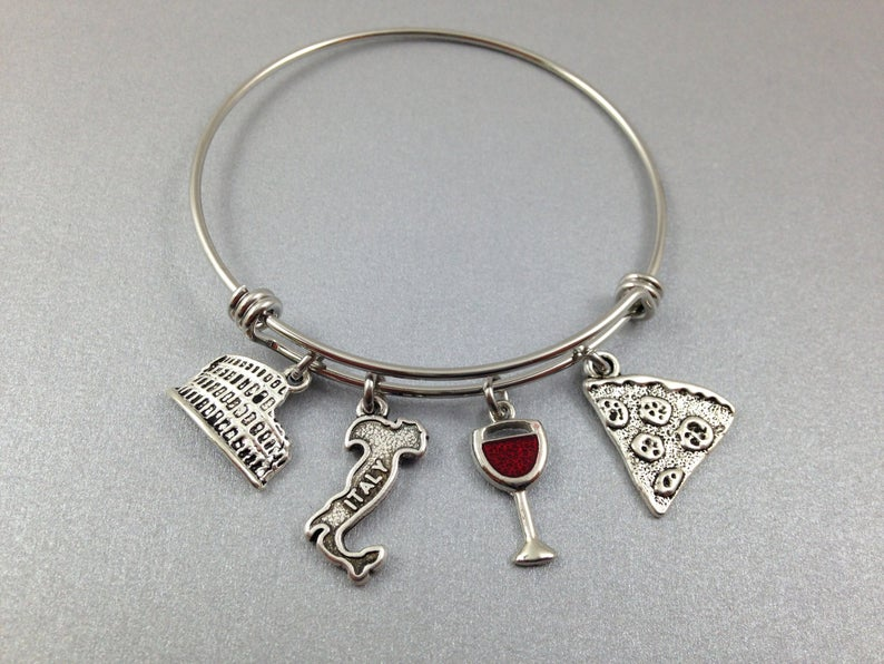 Italy with this charm bracelet. Photo: Etsy/Unusually Charming