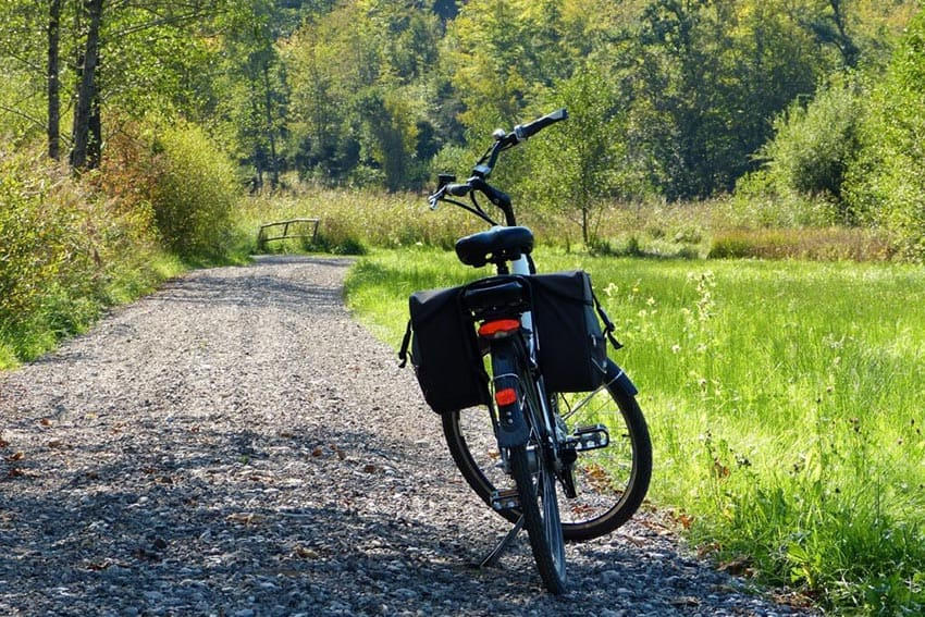 Travel light on a electric bike touring vacation.