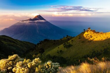 Aw yes, Java, lying between Sumatra and Bali, is a volcano-dotted island that's at the geographic and economic center of Indonesia, and home to more than half its people.