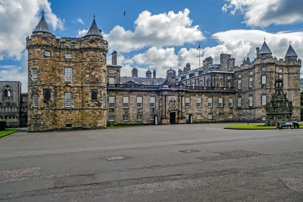 The Palace of Holyroodhouse, commonly referred to as Holyrood Palace, is the official residence of the British monarch in Scotland, Queen Elizabeth II.