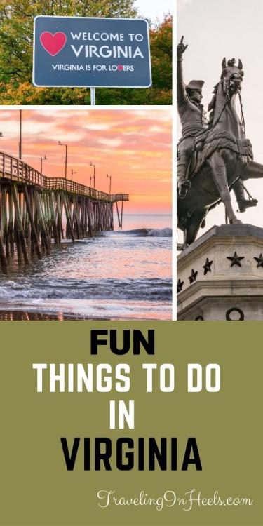 Fun things to do in Virginia #thingstodoinVirginia #visitVirginia #virginia #virginiabeach