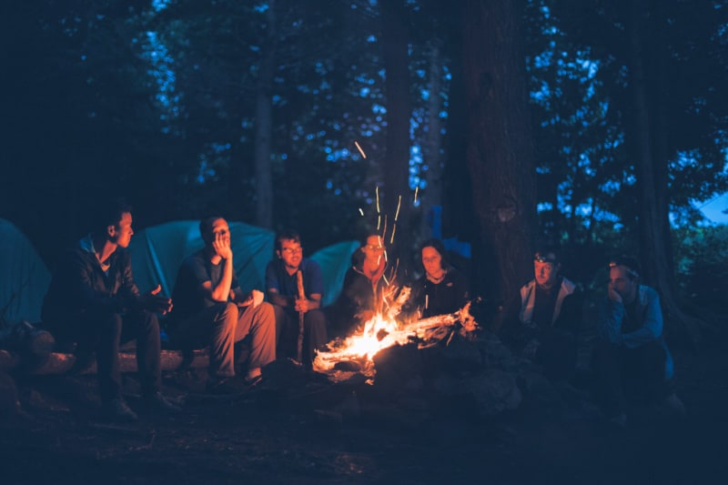 Family camping offers so many fun activities including bonfires and s'mores
