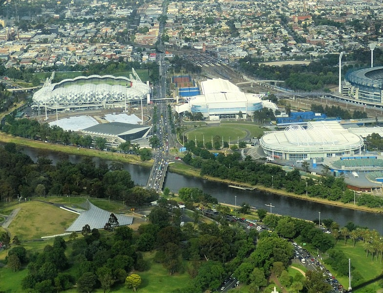 The Melbourne Sports and Entertainment Precinct is a series of sports stadiums and venues