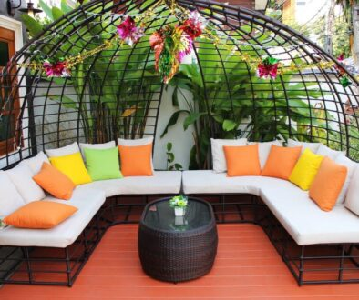 Outdoor patio furniture ideas include lounger, patio sets, day beds, hammocks, swings, and fire tables.
