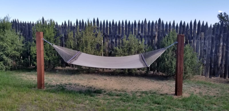 A hammock makes a great addition to your outdoor patio.