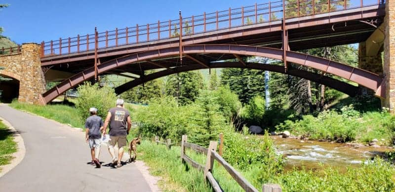 Enjoy river views and easy strolling along the Gore Valley Trail, a paved recreational path that runs the length of Vail.