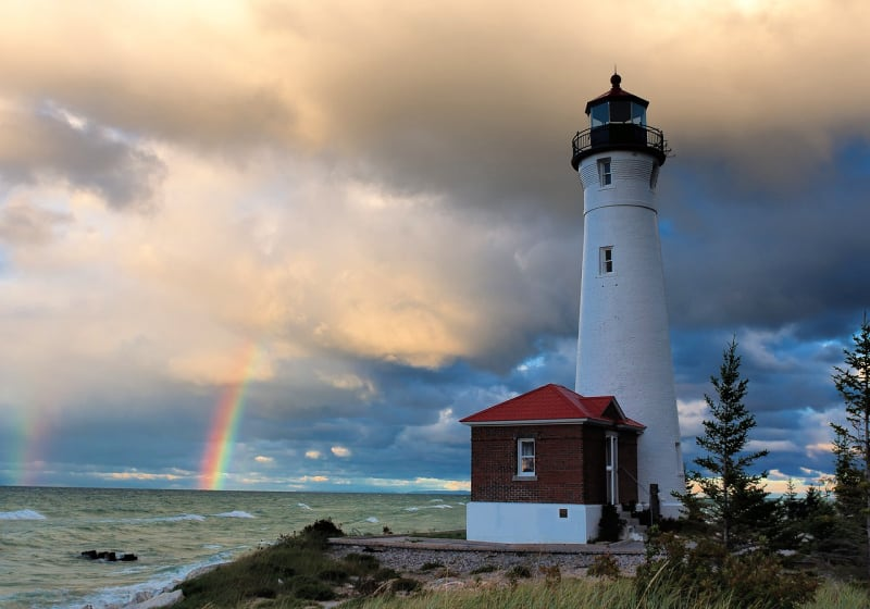 Crisp Point was one of five U.S. Life-Saving Service Stations along the coast of Lake Superior between Munising and Whitefish Point in the Upper Peninsula of Michigan.