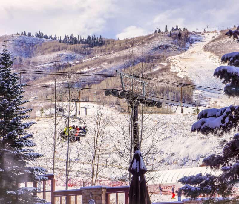 Romantic weekend getaways to many are winter skiing at Park City, Utah