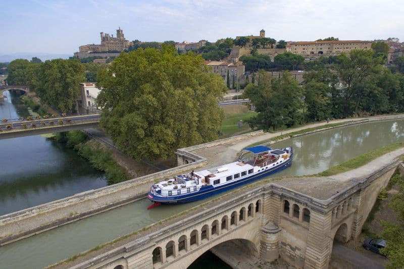 Barge cruising in France offers spectacular views of the countryside. Photo: European Waterways