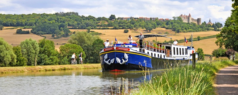 Barge cruising in France navigates the French canals for an intimate look at the small villages. Photo: European Waterways