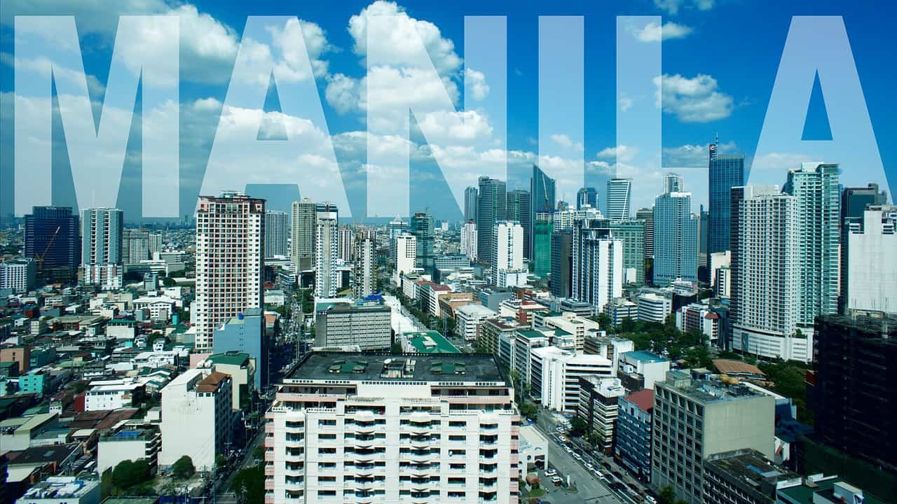 Manila, the capital of the Philippines, is a densely populated bayside city on the island of Luzon
