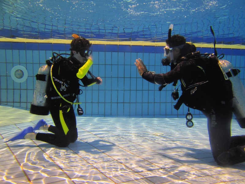 Take a refresher course in scuba diving and how to equalize your ears.